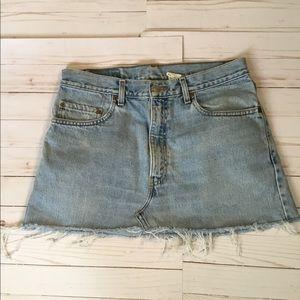 Levi's 505 denim skirt waist size 34